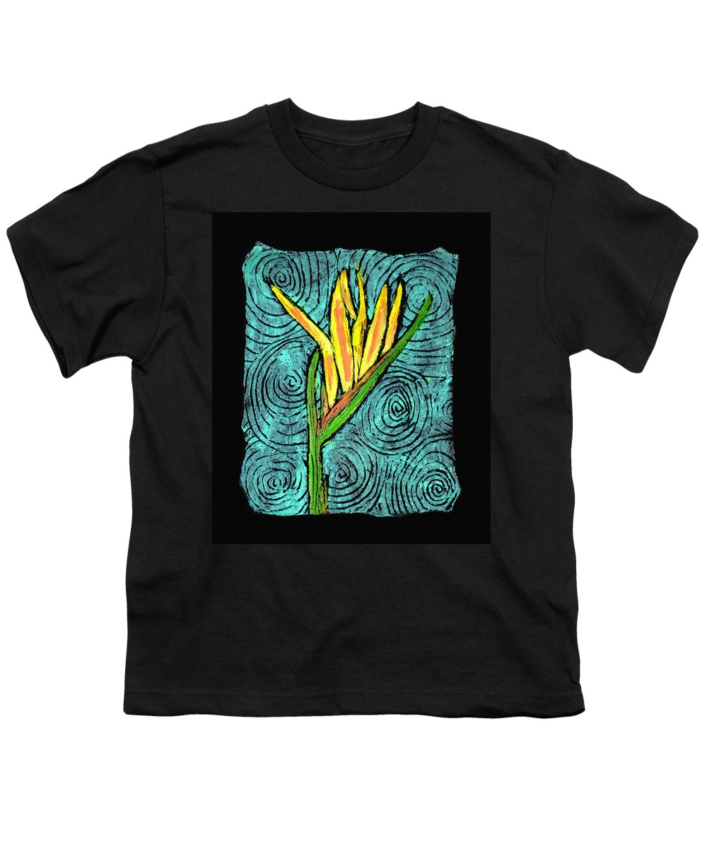 Flower Youth T-Shirt featuring the painting Paradise by Wayne Potrafka
