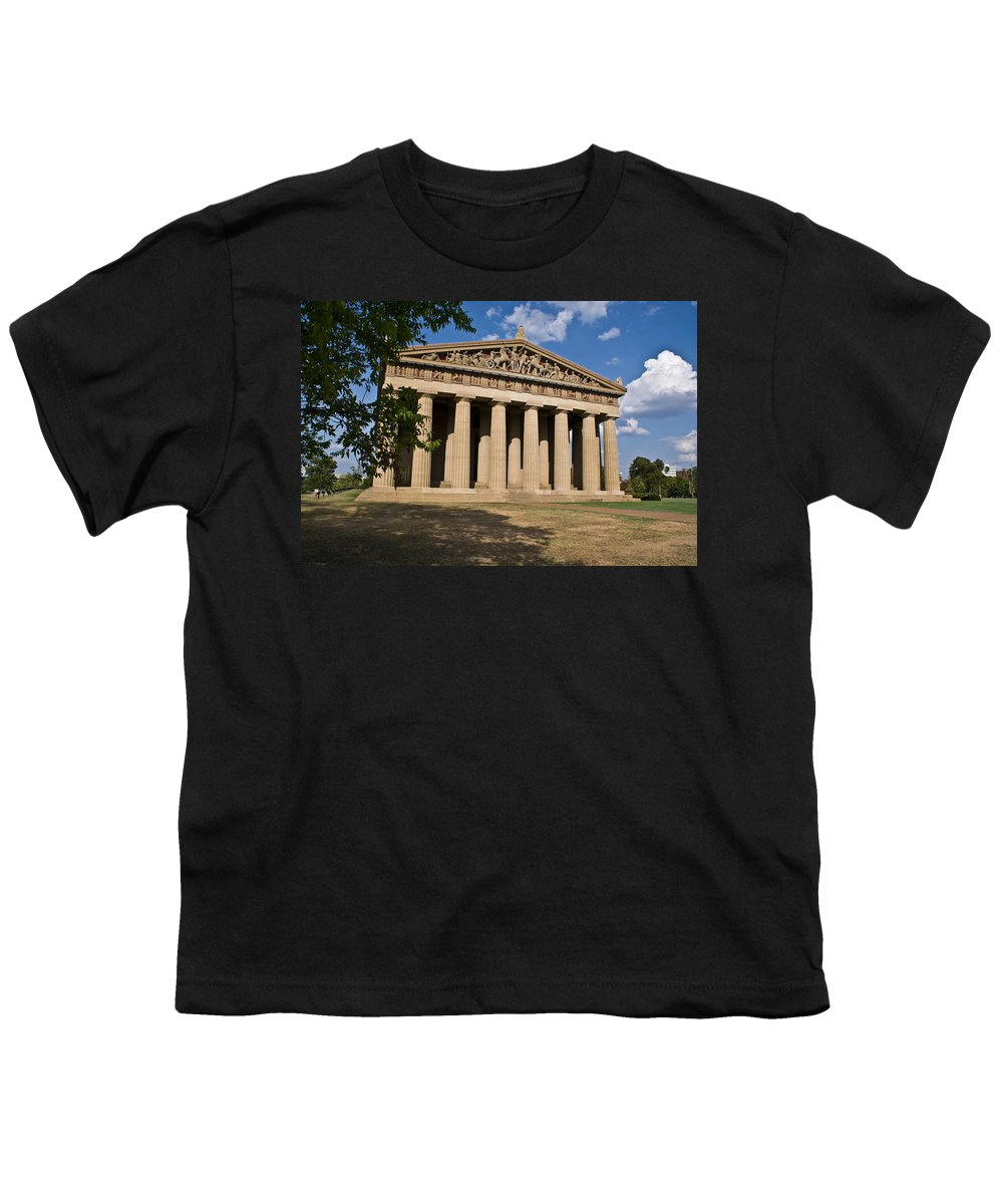 Parthenon Youth T-Shirt featuring the photograph Parthenon Nashville Tennessee by Douglas Barnett