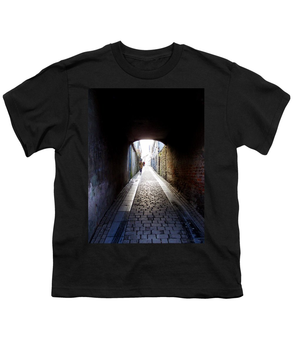 Cooblestone Youth T-Shirt featuring the photograph Passage by Tim Nyberg