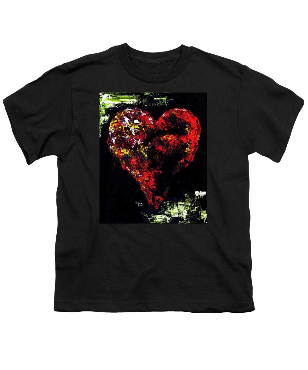 Heart Youth T-Shirt featuring the painting Passion by Hiroko Sakai
