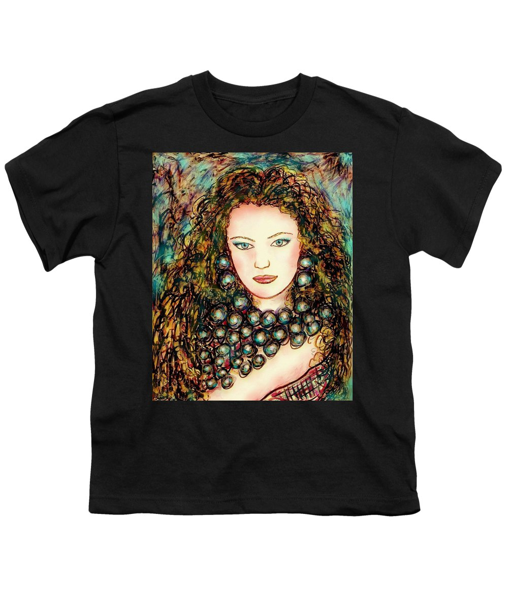 Woman Youth T-Shirt featuring the painting Paula by Natalie Holland