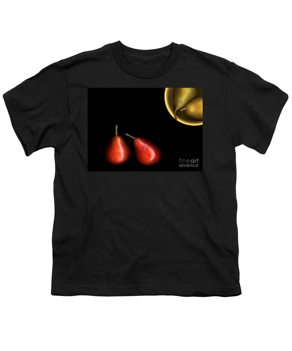 Pears Youth T-Shirt featuring the photograph Pears And Bowl by Christian Slanec
