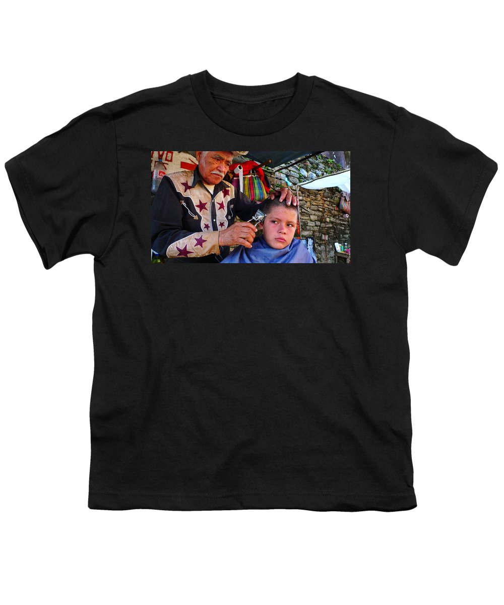 Skip Hunt Youth T-Shirt featuring the photograph Peluquero Dos by Skip Hunt