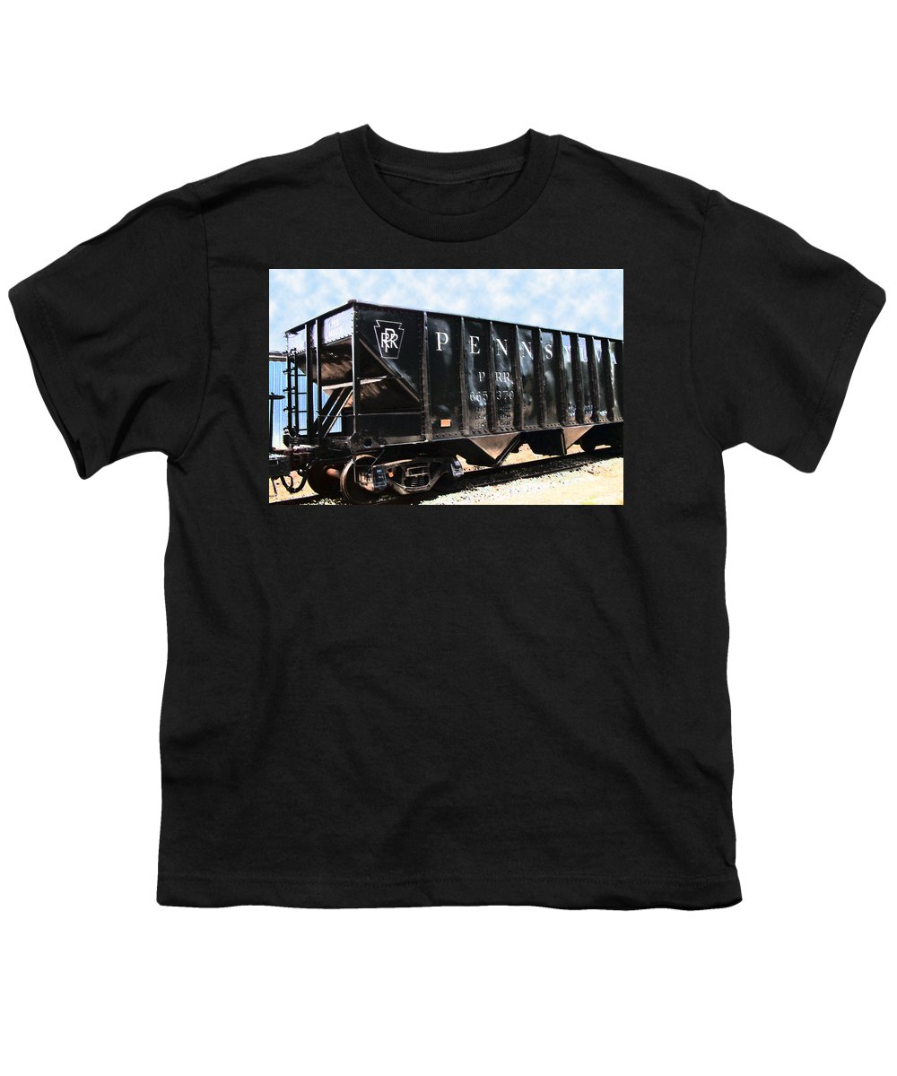Trains Youth T-Shirt featuring the photograph Pennsylvania Hopper by RC DeWinter