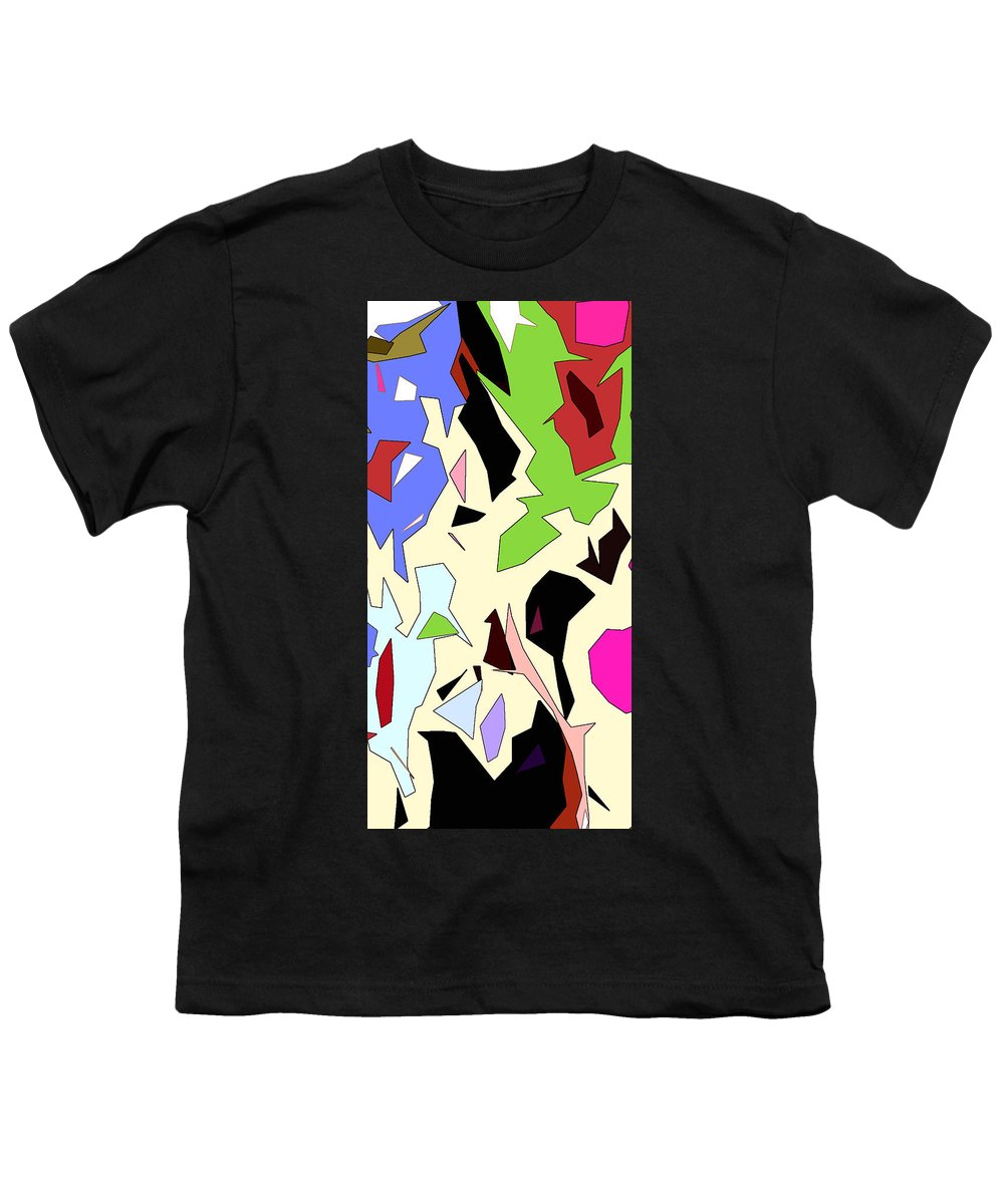 Abstract Youth T-Shirt featuring the digital art Perhaps Departure Panel Two Of Four by Linda Mears