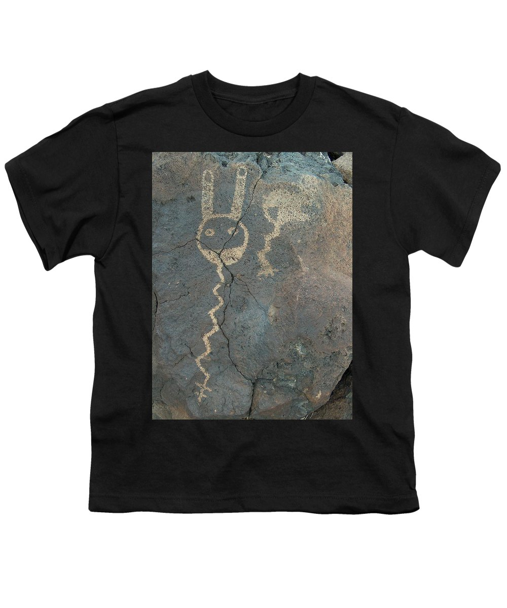 Petroglyph Youth T-Shirt featuring the photograph Petroglyph Series 1 by Tim McCarthy