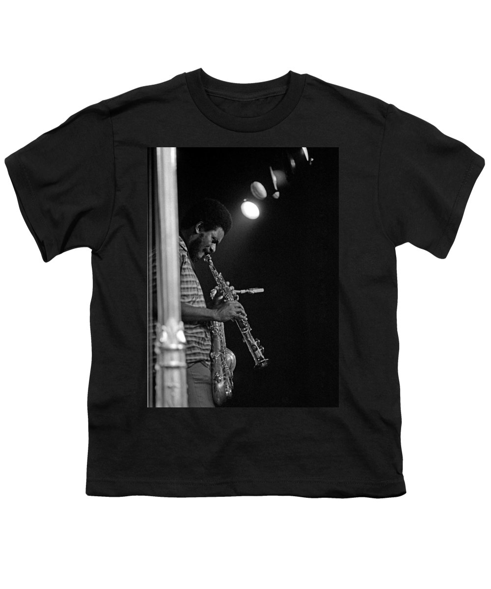 Pharoah Sanders Youth T-Shirt featuring the photograph Pharoah Sanders 1 by Lee Santa