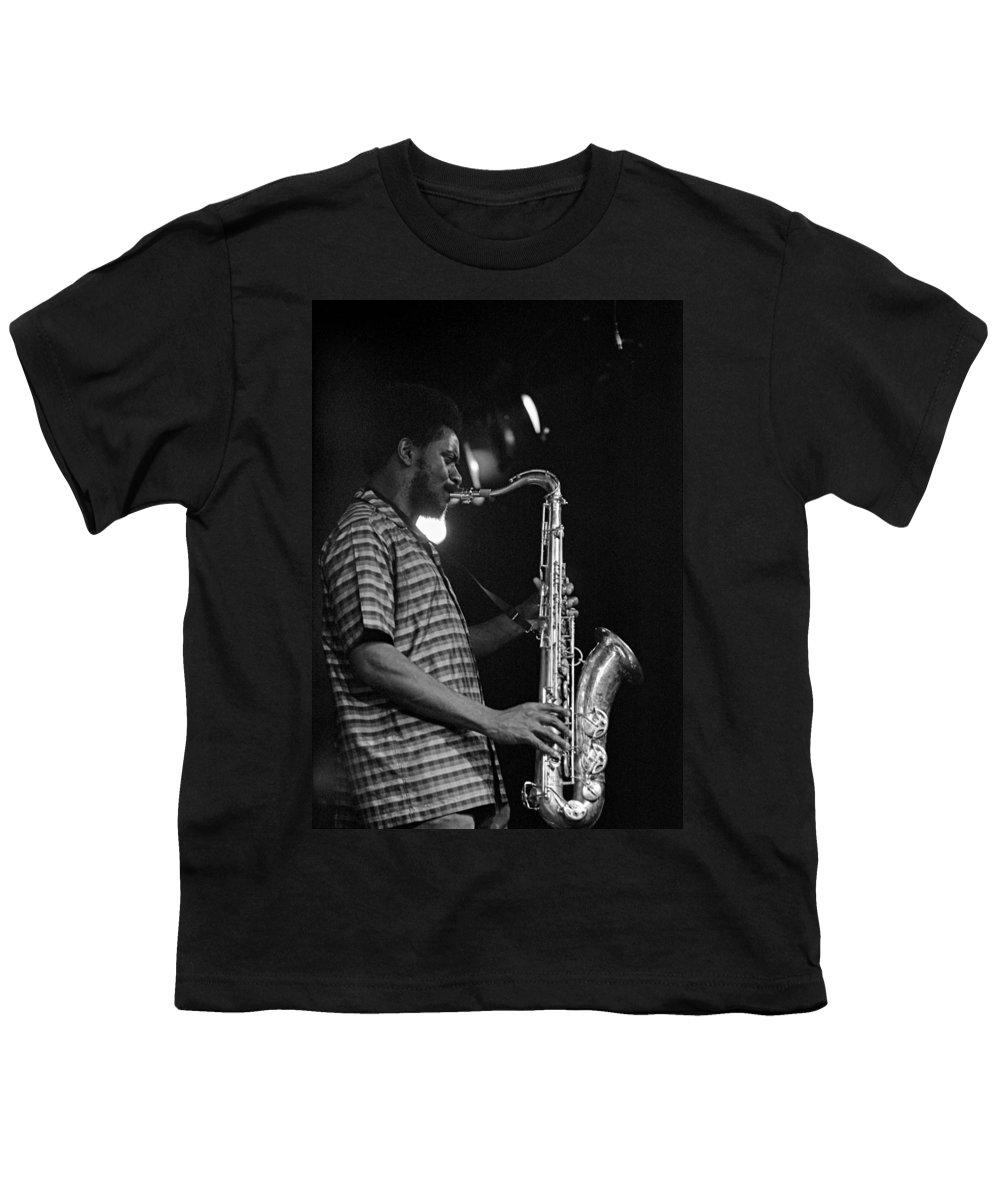 Pharoah Sanders Youth T-Shirt featuring the photograph Pharoah Sanders 2 by Lee Santa