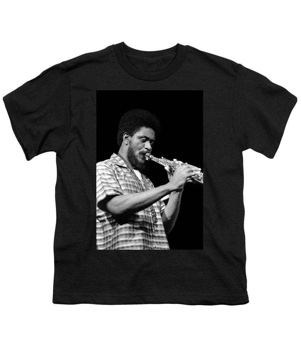 Pharoah Sanders Youth T-Shirt featuring the photograph Pharoah Sanders 3 by Lee Santa