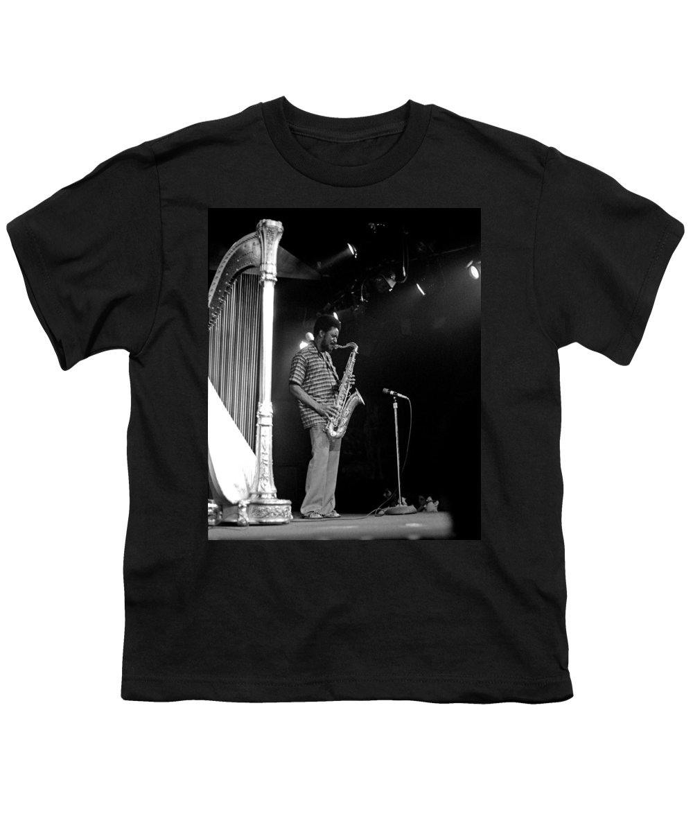 Pharoah Sanders Youth T-Shirt featuring the photograph Pharoah Sanders 5 by Lee Santa