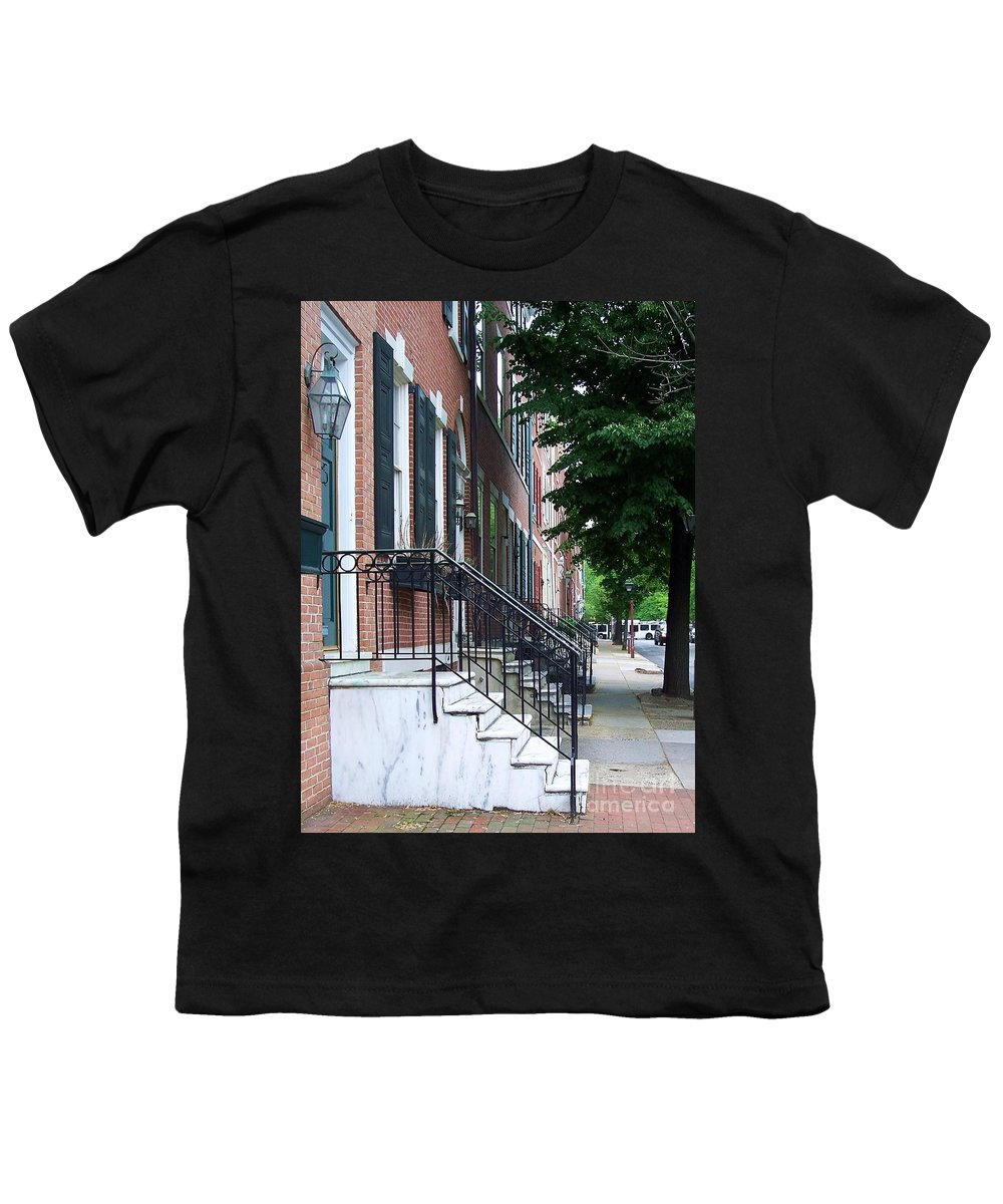 Architecture Youth T-Shirt featuring the photograph Philadelphia Neighborhood by Debbi Granruth