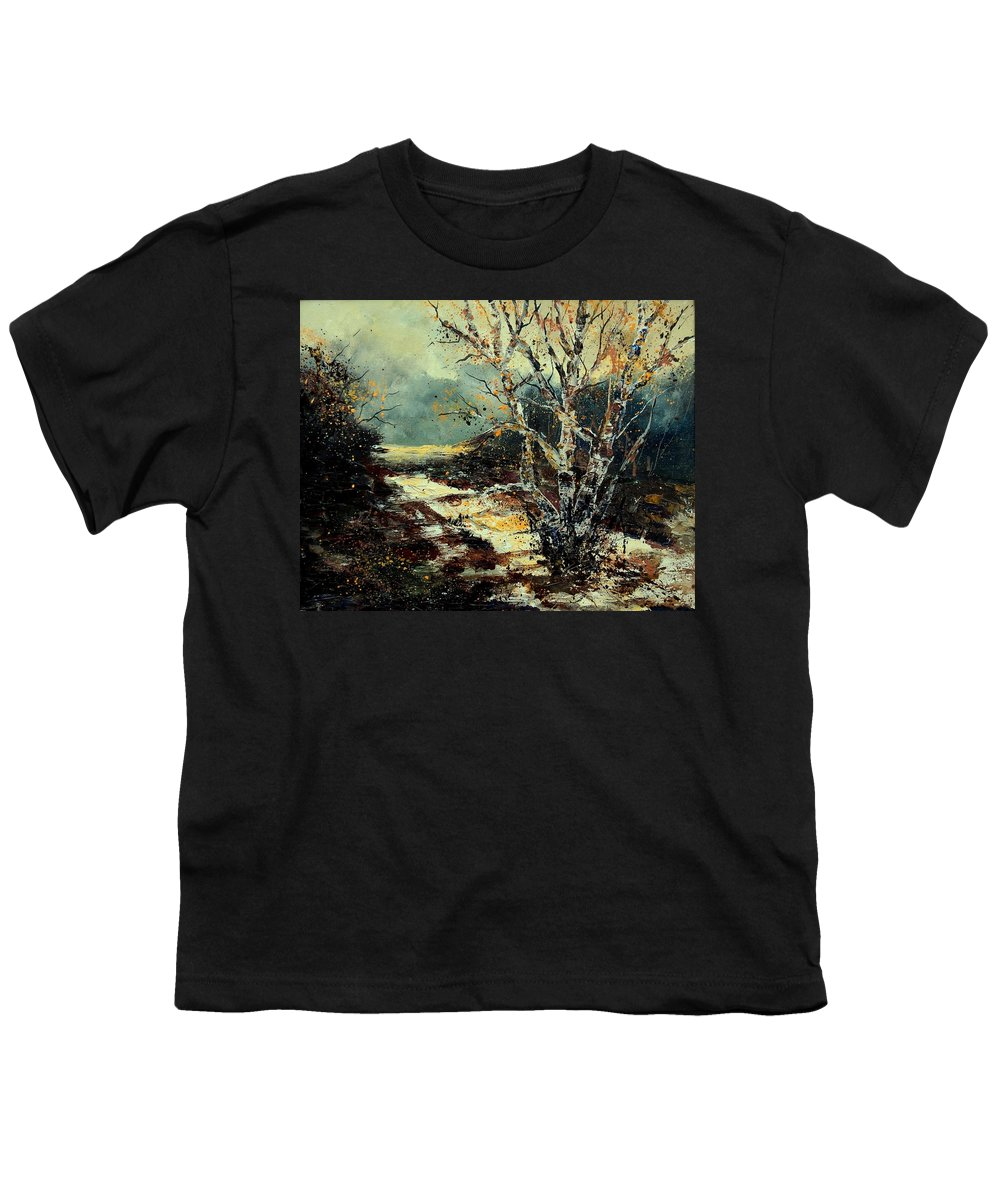 Tree Youth T-Shirt featuring the painting Poplars 45 by Pol Ledent