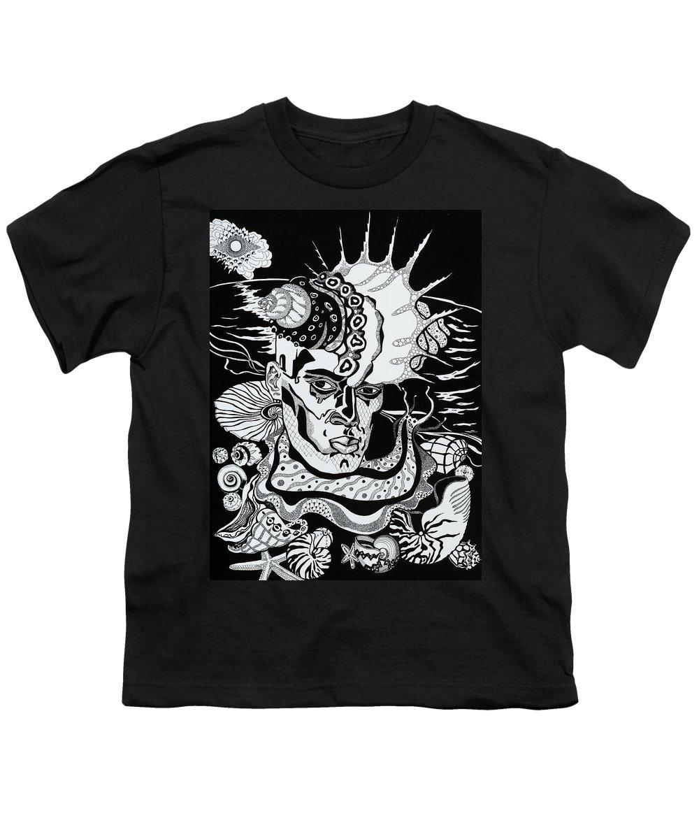Surreal Youth T-Shirt featuring the drawing Poseidon by Yelena Tylkina