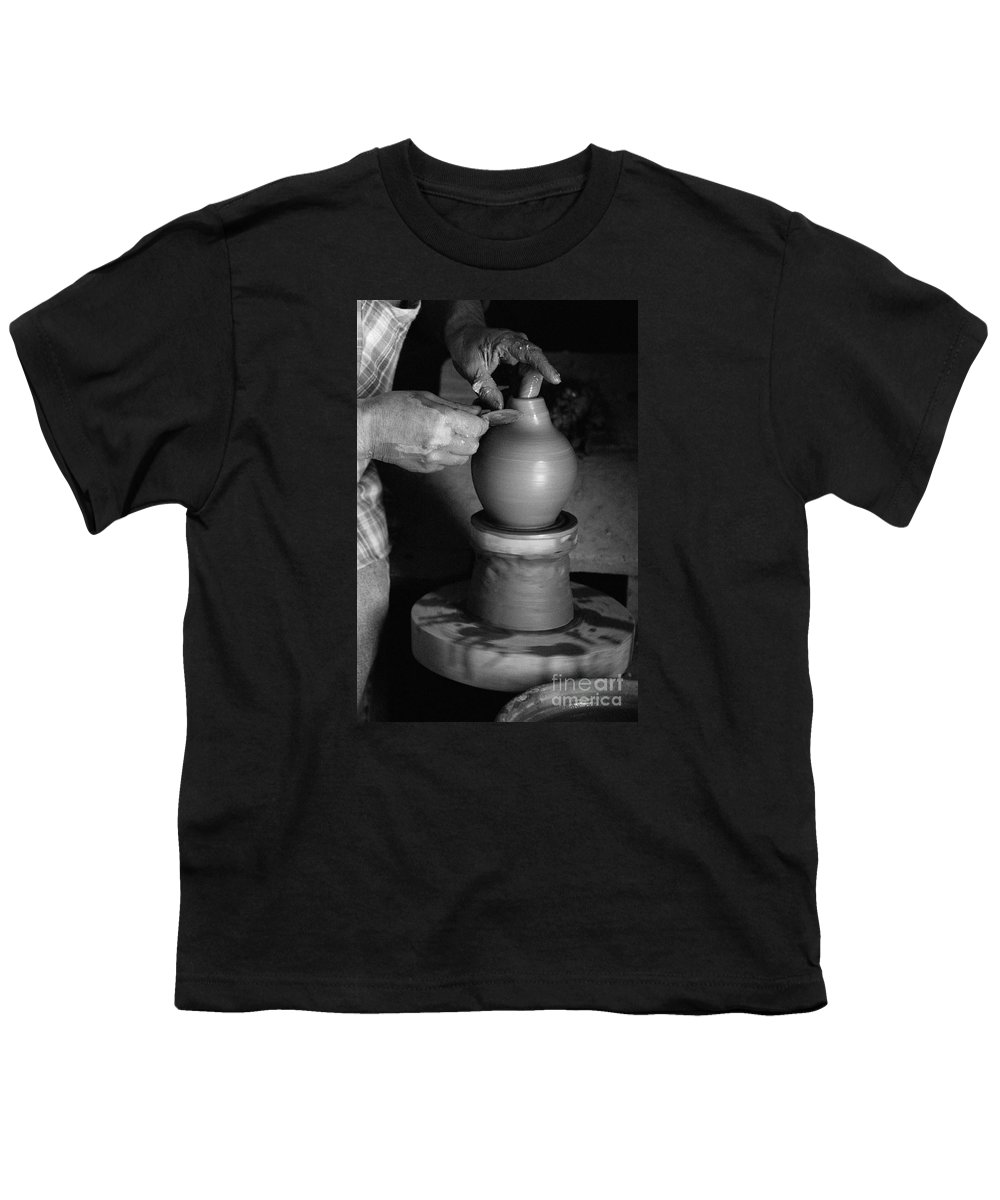 Azores Youth T-Shirt featuring the photograph Potter At Work by Gaspar Avila