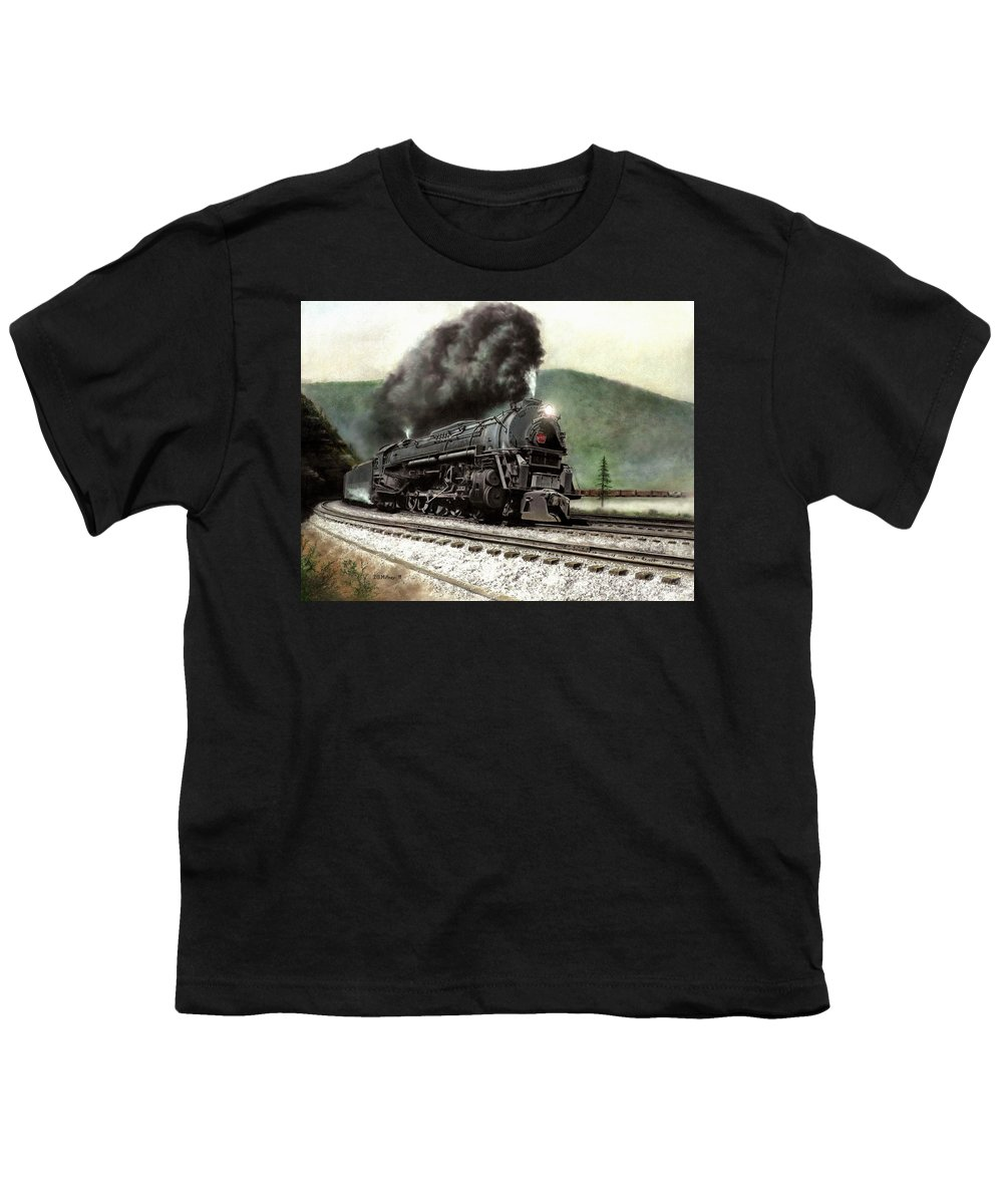 Youth T-Shirt featuring the painting Power On The Curve by David Mittner