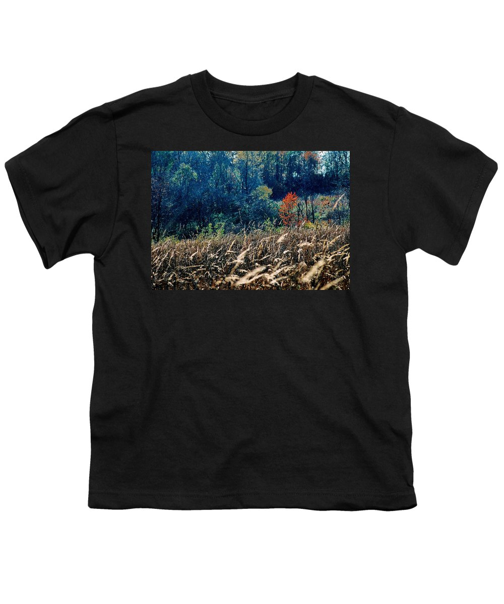 Landscape Youth T-Shirt featuring the photograph Prairie Edge by Steve Karol