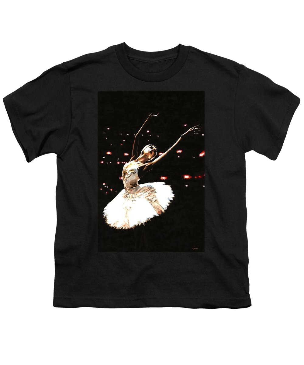 Prima Ballerina Youth T-Shirt featuring the painting Prima Ballerina by Richard Young