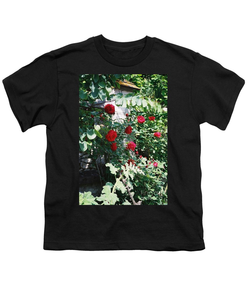 Floral Youth T-Shirt featuring the photograph Provence Red Roses by Nadine Rippelmeyer