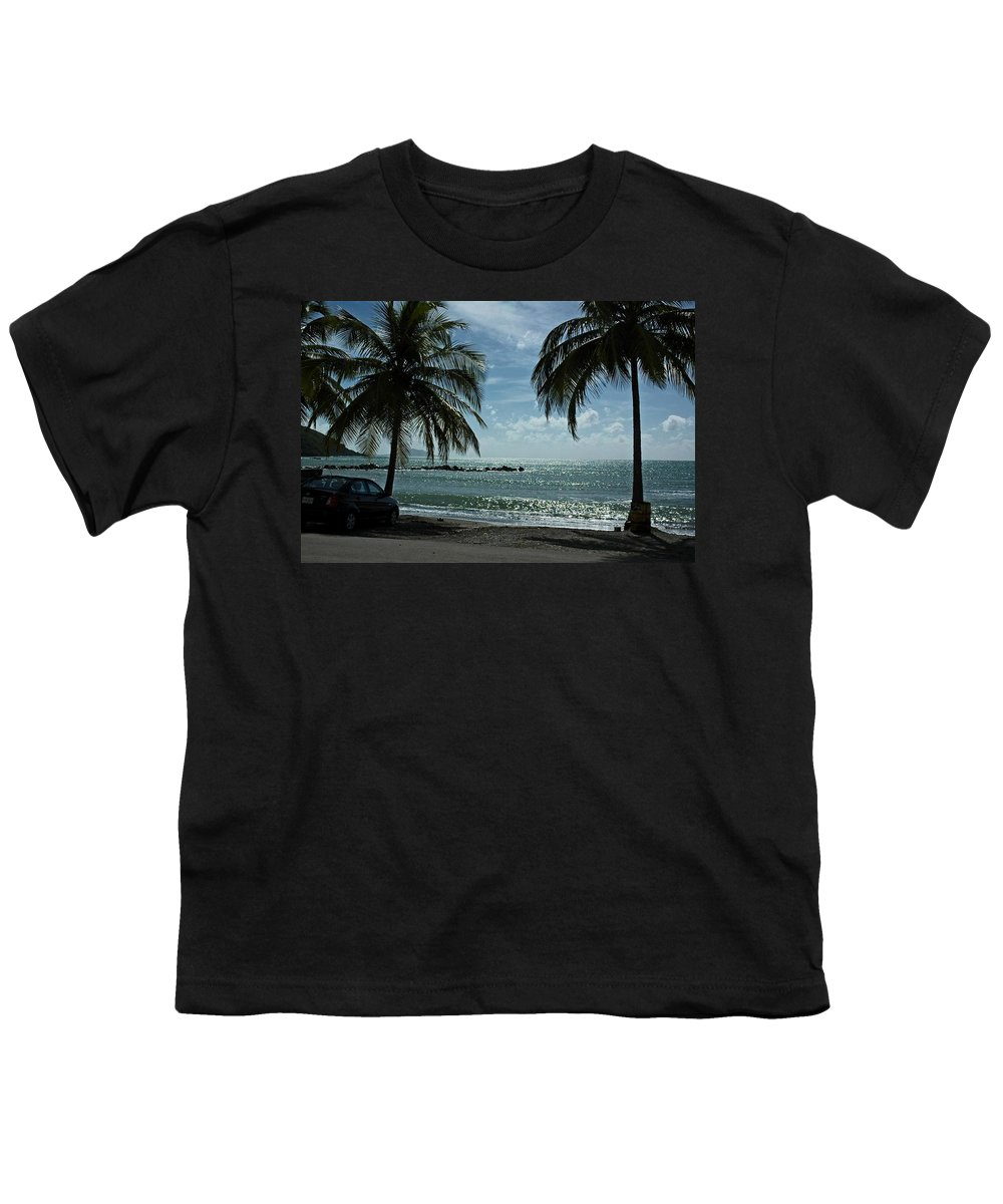 Landscape Youth T-Shirt featuring the photograph Puerto Rican Beach by Tito Santiago