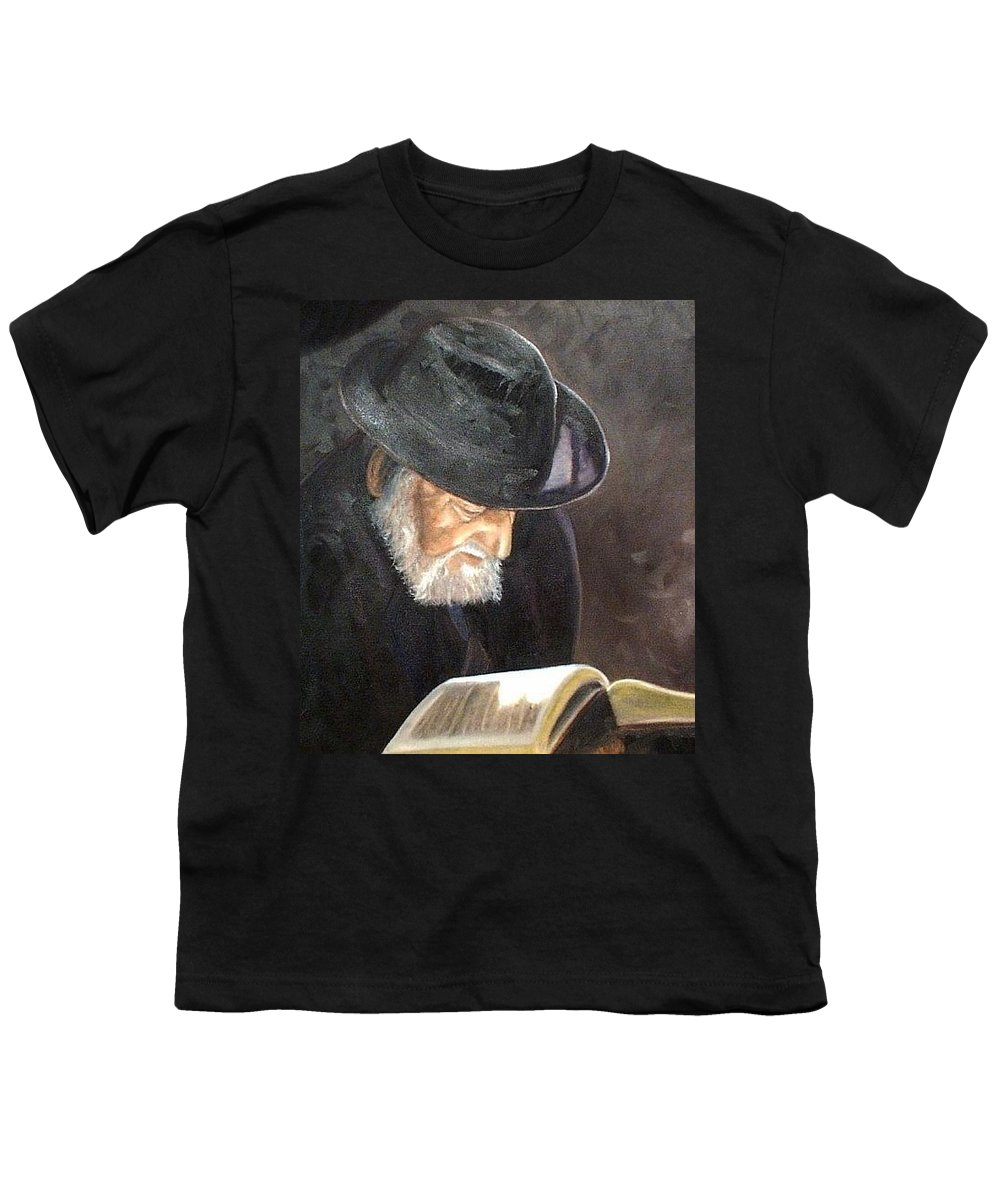 Portrait Youth T-Shirt featuring the painting Rabbi by Toni Berry