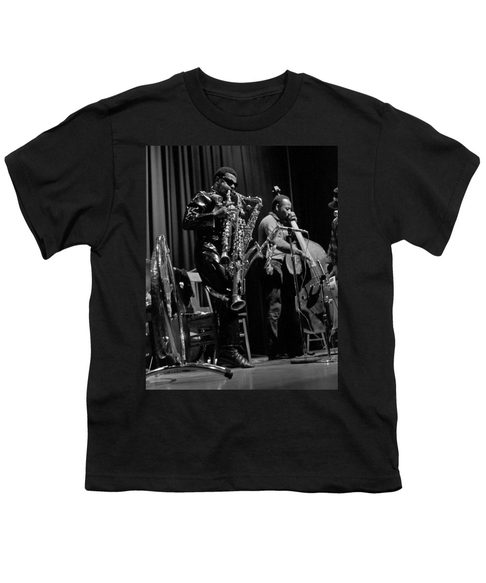 Rahsaan Roland Kirk Youth T-Shirt featuring the photograph Rahsaan Roland Kirk 1 by Lee Santa