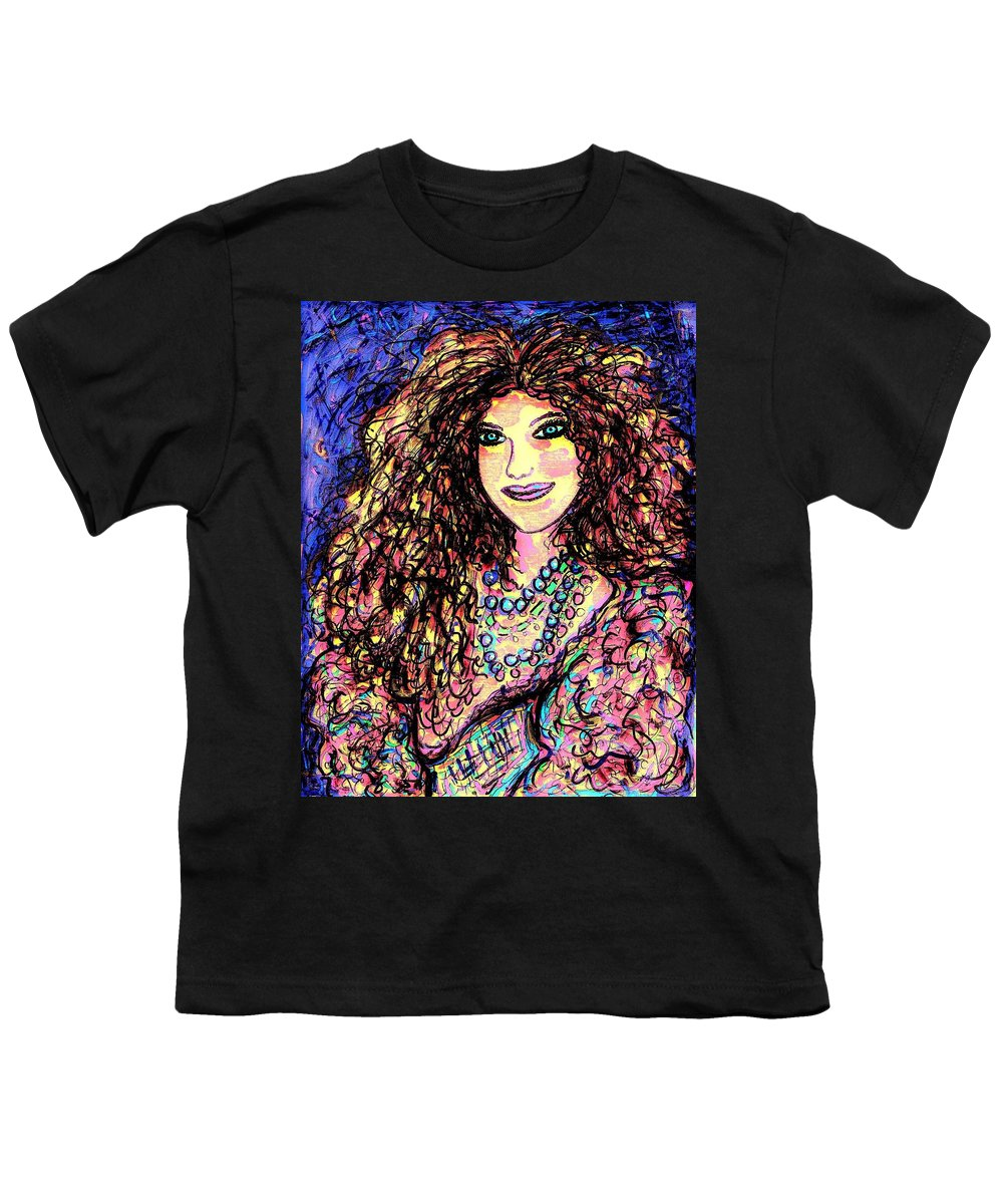 Woman Youth T-Shirt featuring the painting Ravishing Beauty by Natalie Holland