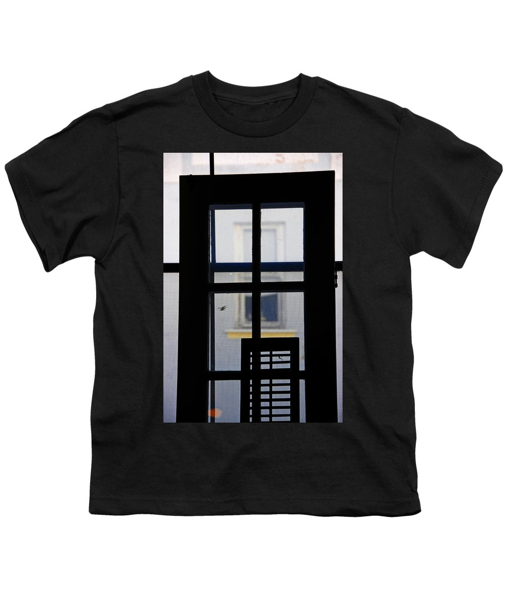 Architecture Youth T-Shirt featuring the photograph Rear Window 2 by Skip Hunt