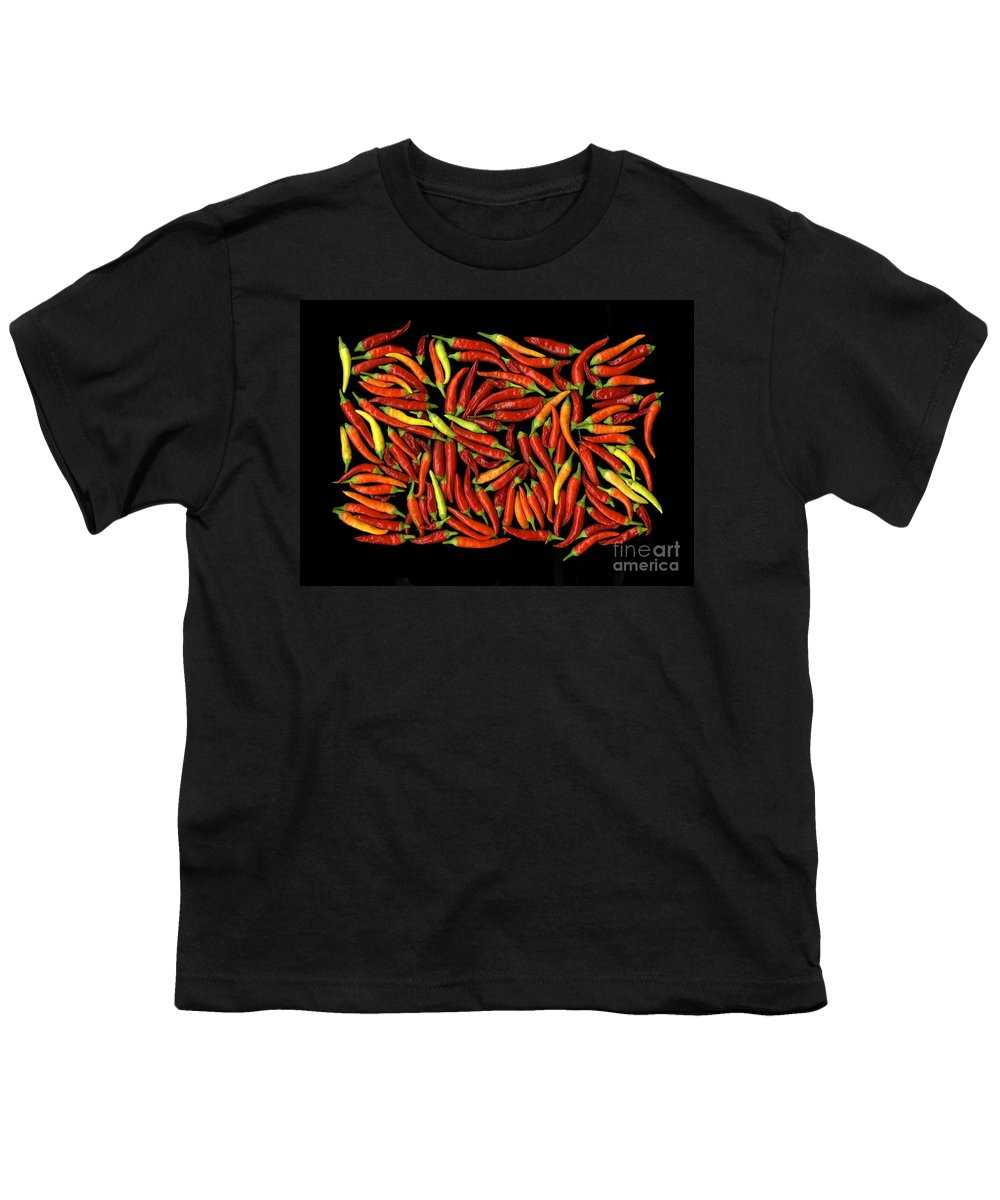 Color Youth T-Shirt featuring the photograph Red Hots by Christian Slanec
