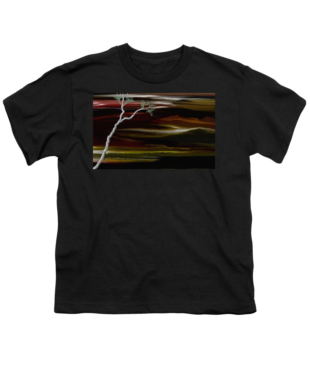 Digital Landscape Youth T-Shirt featuring the digital art Redscape by David Lane