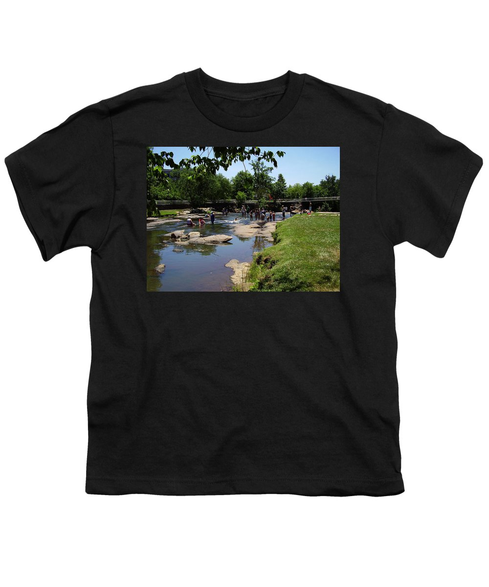 Reedy River Youth T-Shirt featuring the photograph Reedy River by Flavia Westerwelle