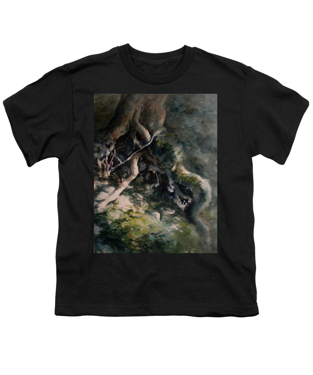 Nature Youth T-Shirt featuring the painting Revealed by Rachel Christine Nowicki