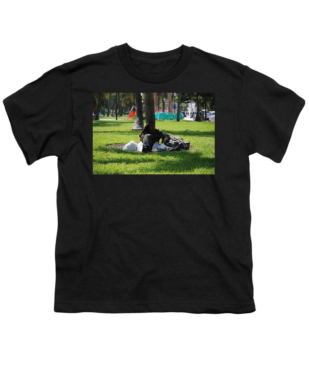Urban Youth T-Shirt featuring the photograph Rip Van Winkle by Rob Hans