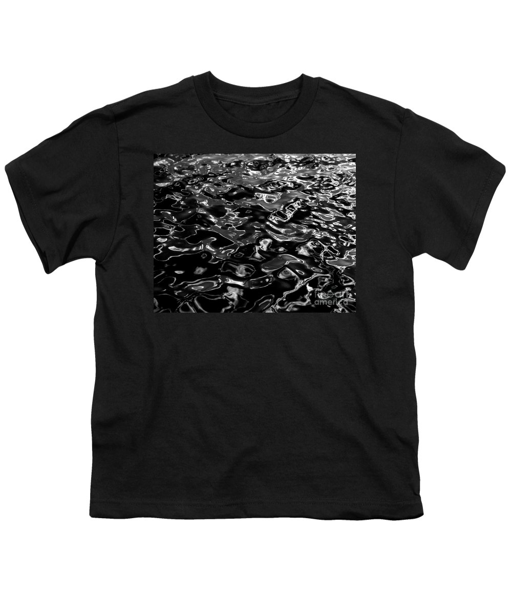 Black And White Youth T-Shirt featuring the photograph Ripples by Peter Piatt