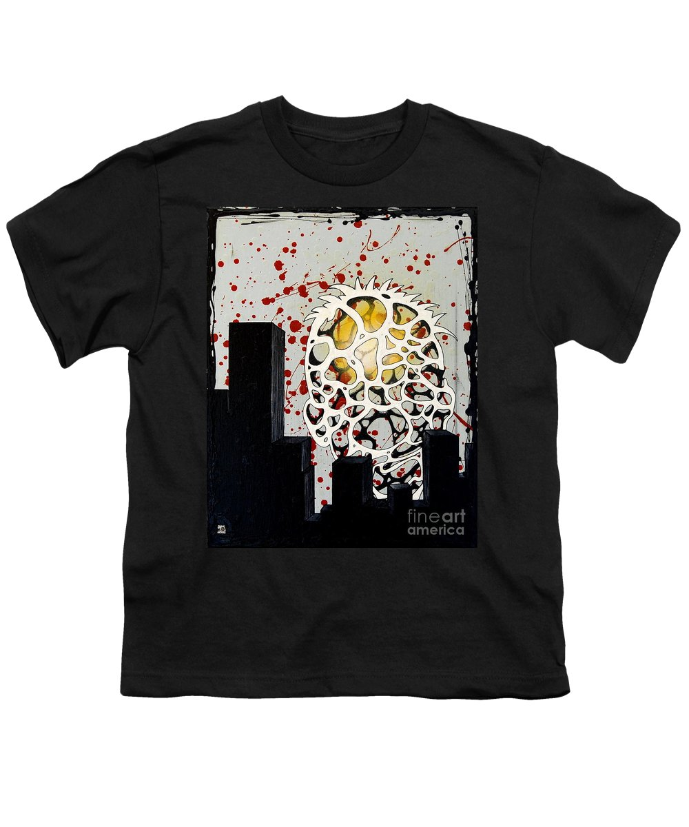 Energy Youth T-Shirt featuring the painting Rise by A 2 H D