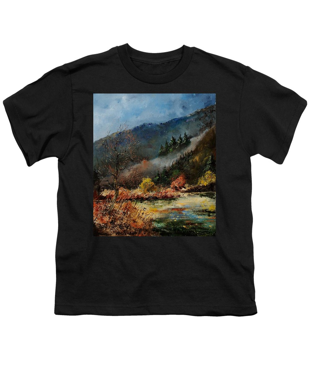 River Youth T-Shirt featuring the painting River Semois by Pol Ledent