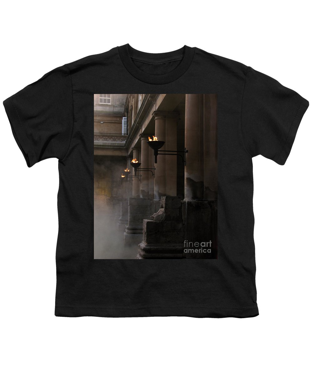 Bath Youth T-Shirt featuring the photograph Roman Baths by Amanda Barcon