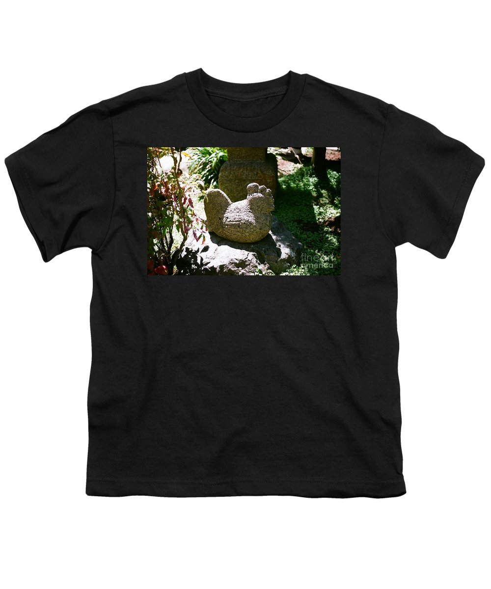 Stone Youth T-Shirt featuring the photograph Rooster by Dean Triolo