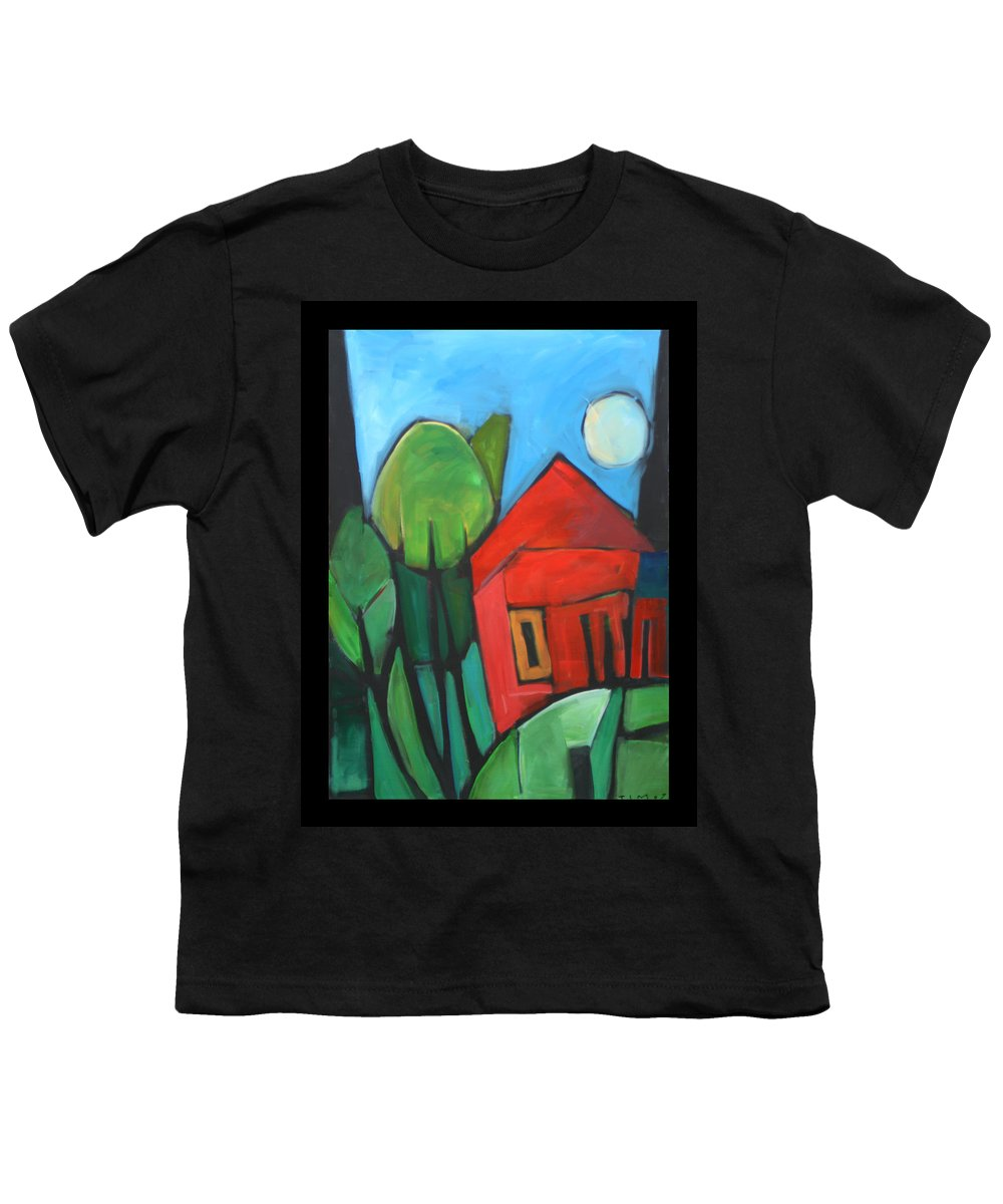 Trees Youth T-Shirt featuring the painting Root Cellar by Tim Nyberg