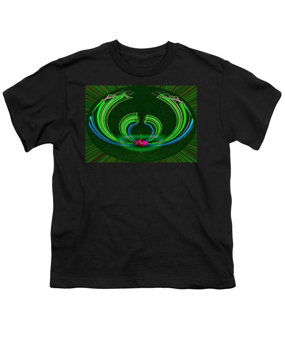 Ruby Youth T-Shirt featuring the digital art Ruby Singularity In Emerald Sapphire Nest by Don Quackenbush