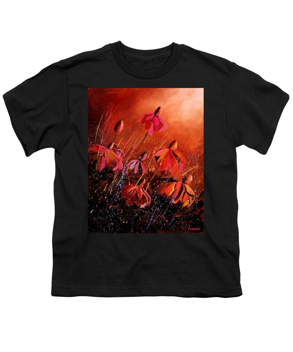 Poppies Youth T-Shirt featuring the painting Rudbeckia's 45 by Pol Ledent