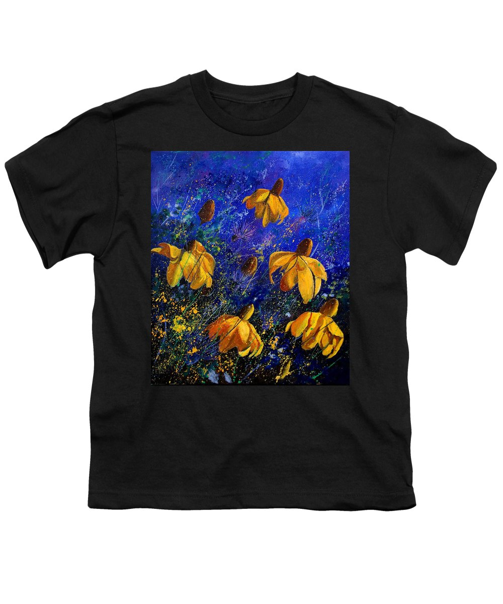 Poppies Youth T-Shirt featuring the painting Rudbeckia's by Pol Ledent
