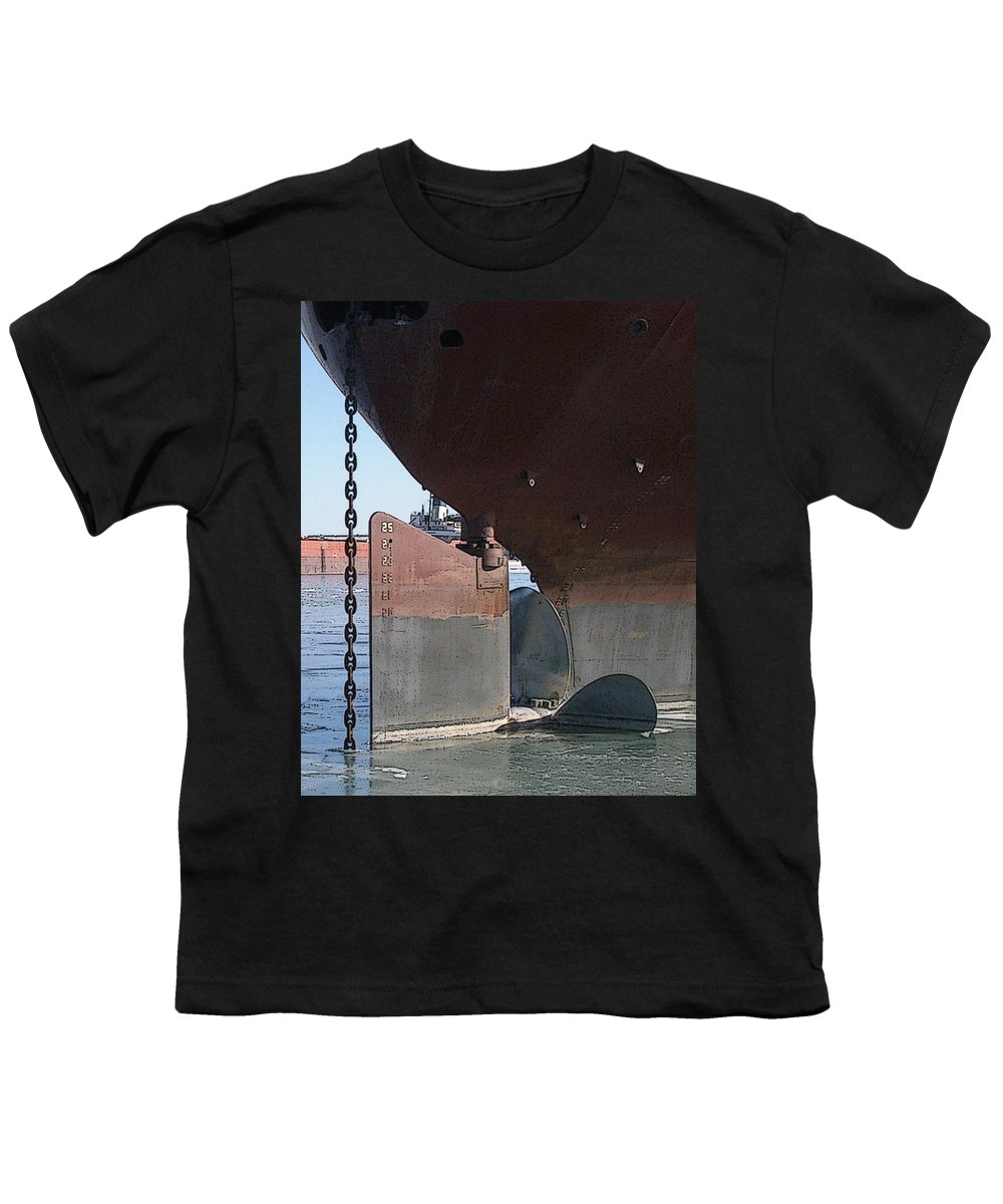 Prop Youth T-Shirt featuring the photograph Ryerson Prop by Tim Nyberg