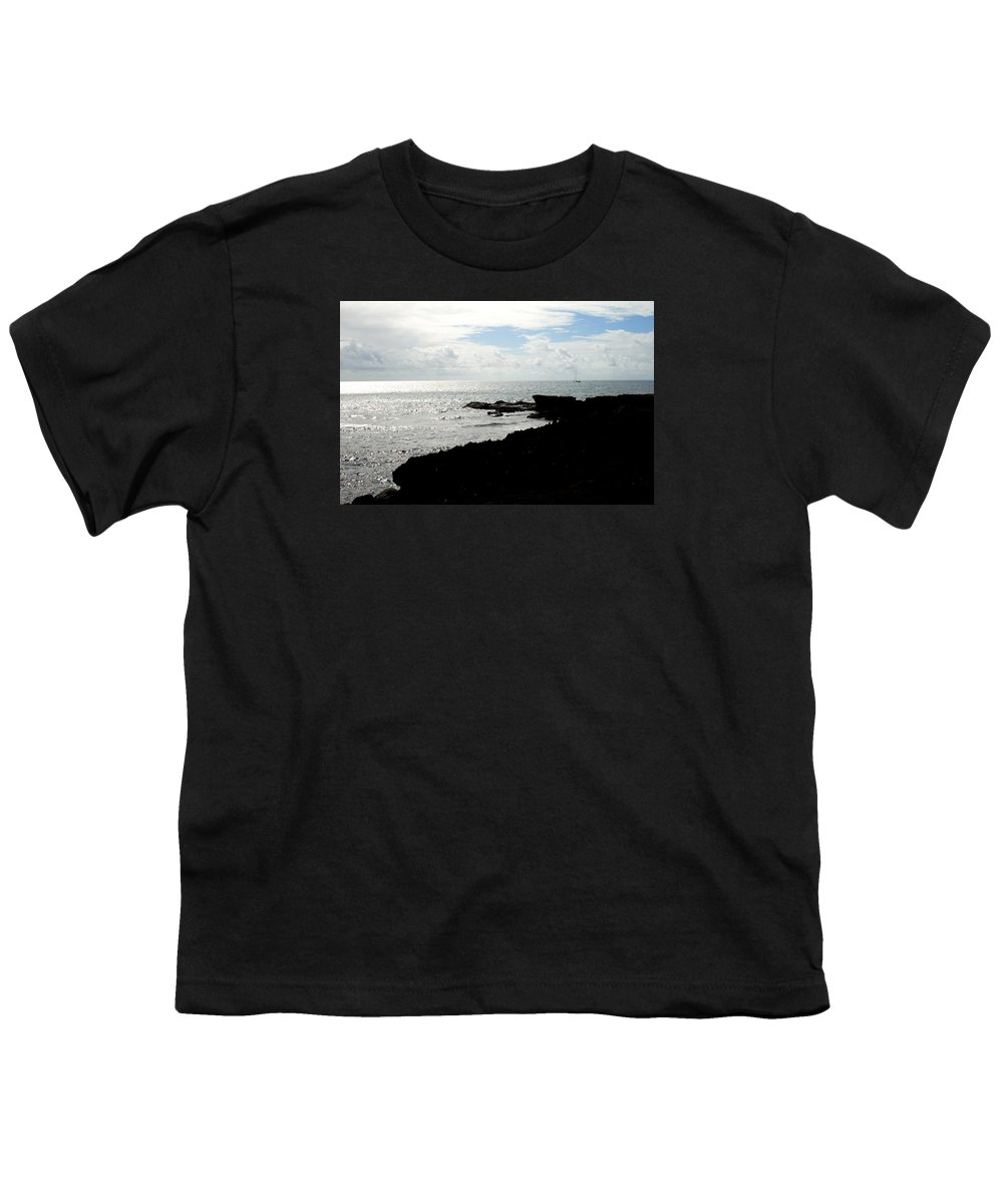 Sailboat Youth T-Shirt featuring the photograph Sailboat At Point by Jean Macaluso
