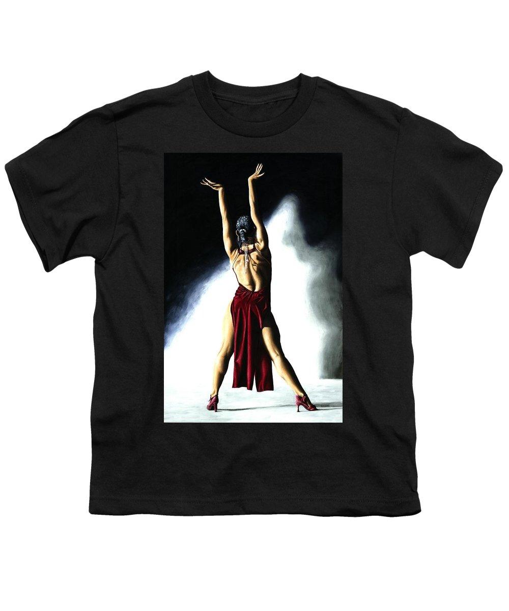 Samba Youth T-Shirt featuring the painting Samba Celebration by Richard Young