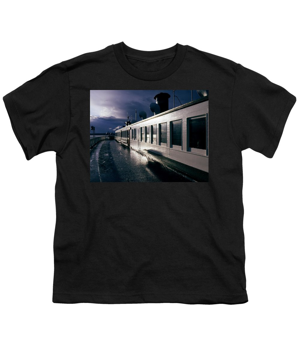 Scenic Youth T-Shirt featuring the photograph San Juan Islands Ferry by Lee Santa