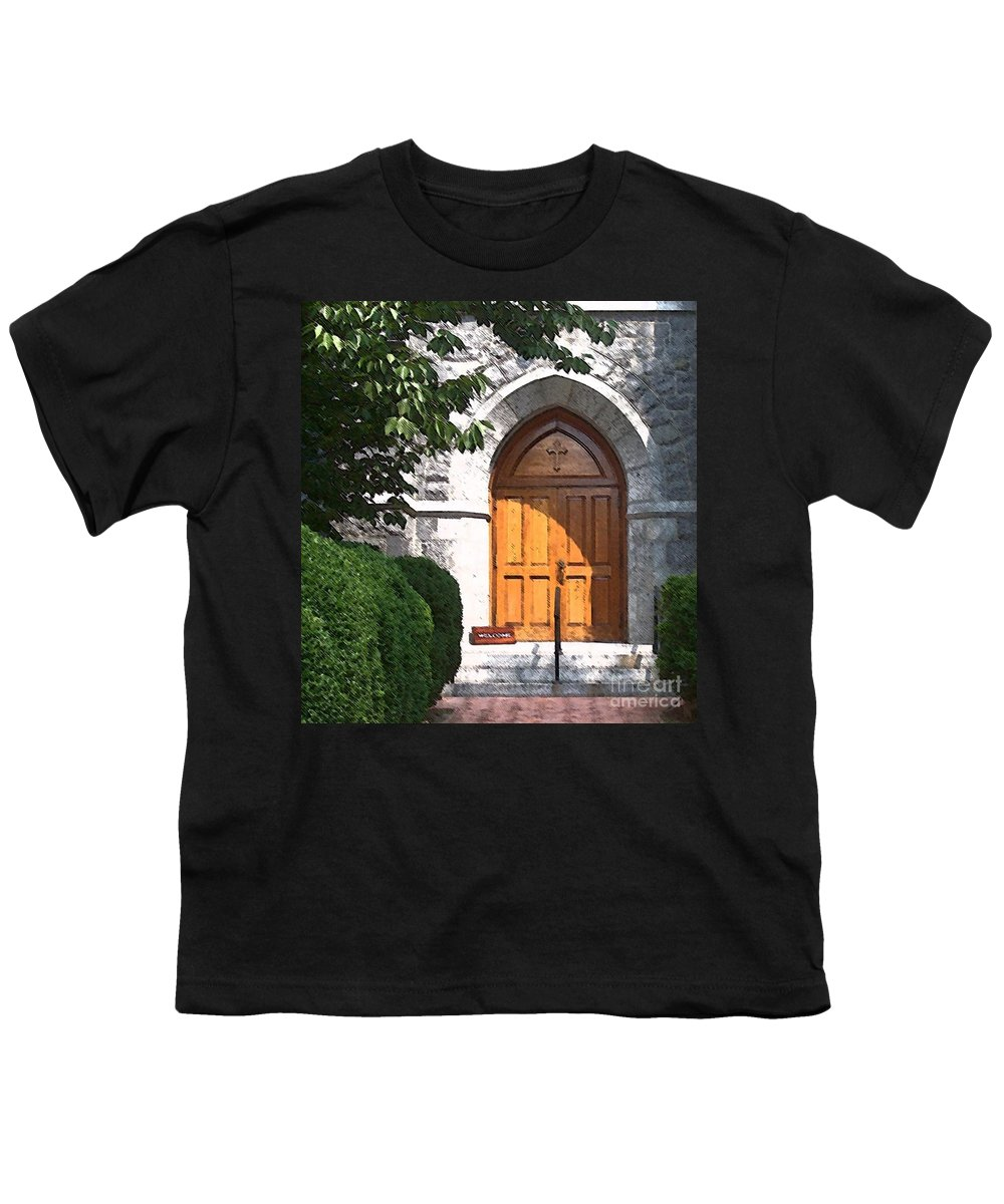 Church Youth T-Shirt featuring the photograph Sanctuary by Debbi Granruth