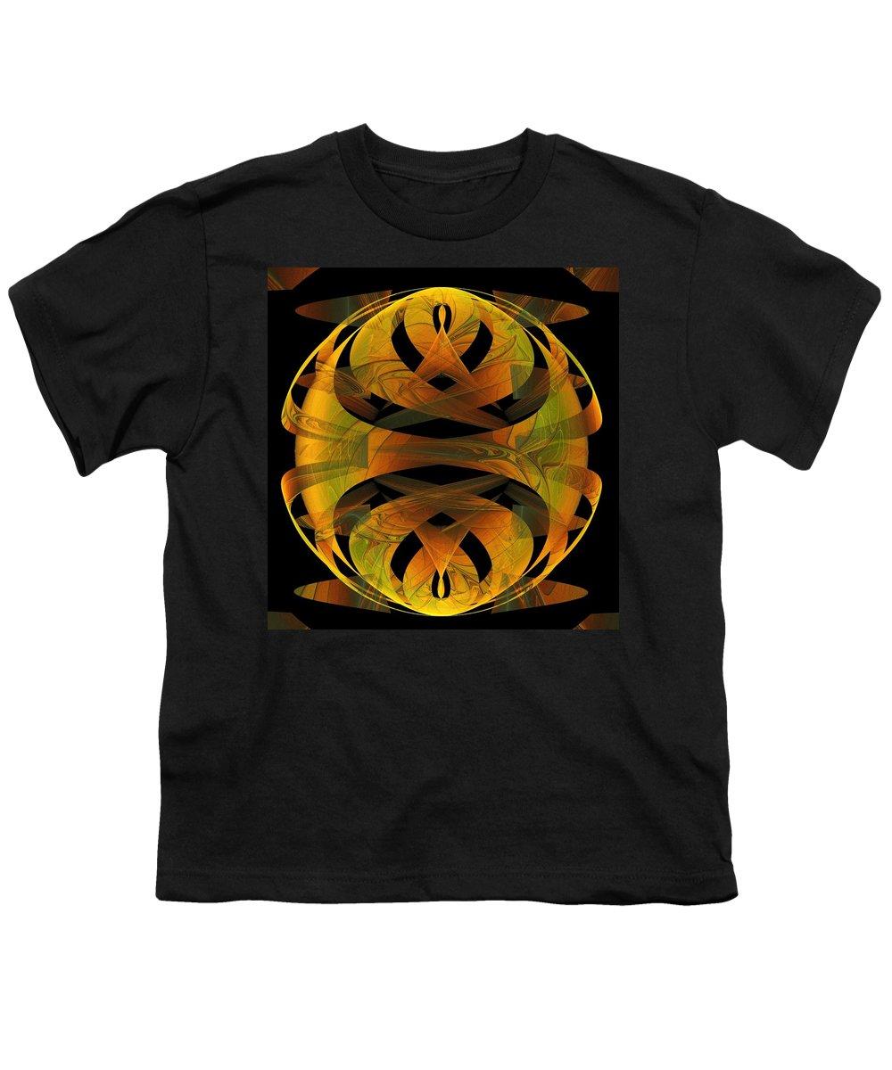 Digital Art Youth T-Shirt featuring the digital art Scarab by Amanda Moore