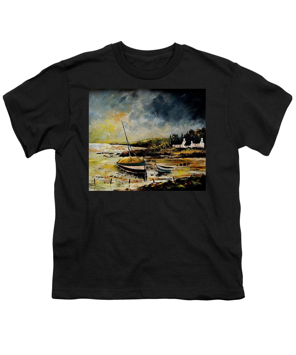 Sea Youth T-Shirt featuring the painting Seascape 452654 by Pol Ledent
