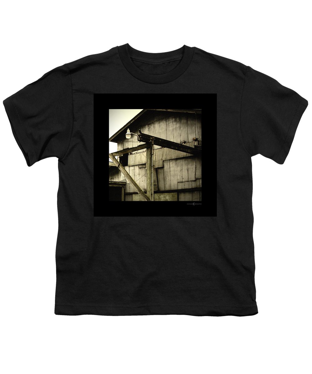 Corrugated Youth T-Shirt featuring the photograph Security Light by Tim Nyberg