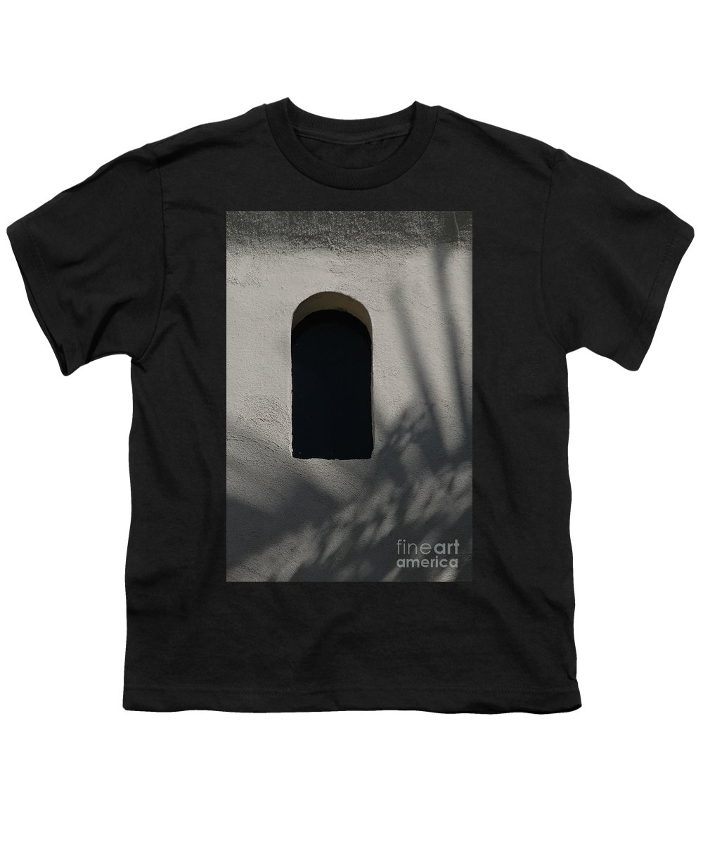 Window Youth T-Shirt featuring the photograph Shadows On The Wall by Michael Ziegler